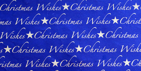 Blue & Silver Foil Christmas Gift Wrap