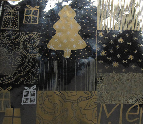 Silver & Gold Foil Christmas Gift Wrap