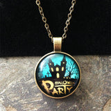 Cabochon Ghost House Party Halloween Necklace