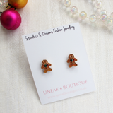 Dreamland Gingerbread Man Stud Earrings