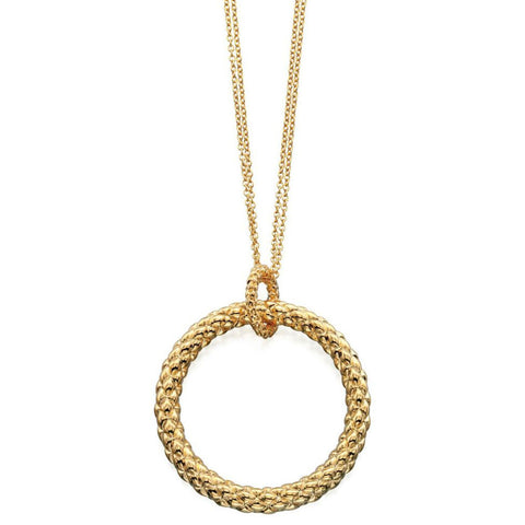 Textured Gold Circles Fiorelli Necklace