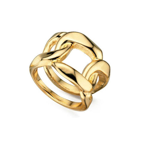 Gold Plated Chain Link Fiorelli Ring