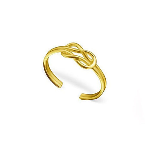 Knotted Gold Plated Silver Toe Ring