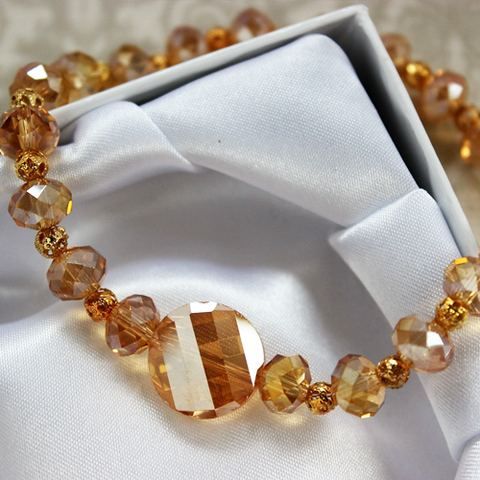 Golden Light Handmade Crystal Bracelet