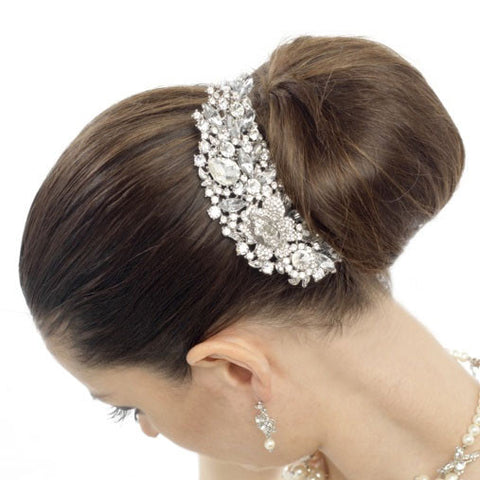Rosarna Crystal Wedding Hair Comb