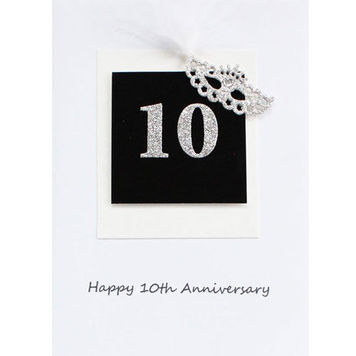 Silver Mask 10 Year Anniversary Card