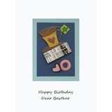 Coffee Break Happy Birthday Brother Handmade Card