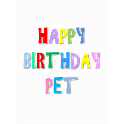 Happy Birthday Pet