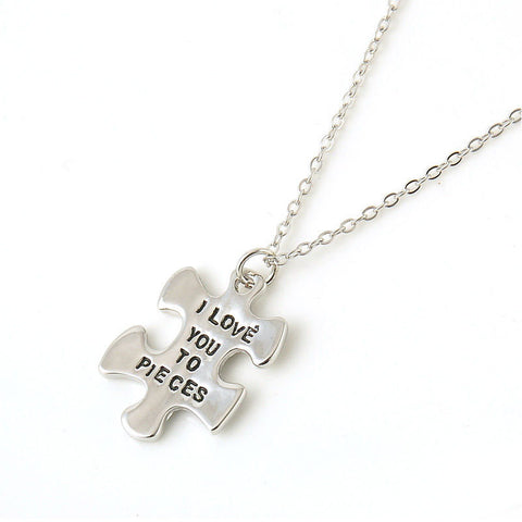 I Love You To Pieces Silver Plated Pendant