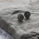 Circular Flower Marcasite Earrings