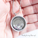 Inspire Memory Locket with Floating Charms