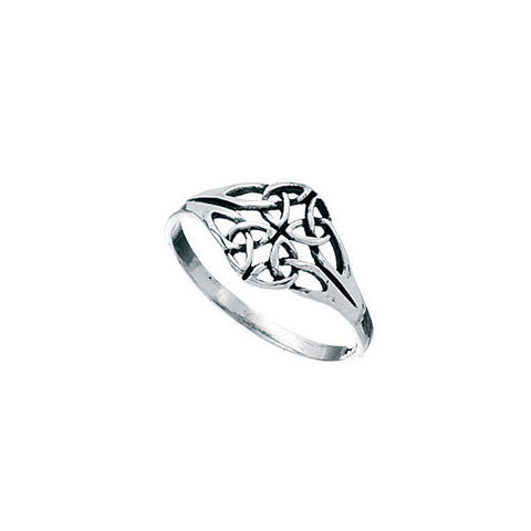Diamond Shaped Silver Celtic Ring