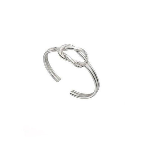 Love Knot Sterling Silver Toe Ring
