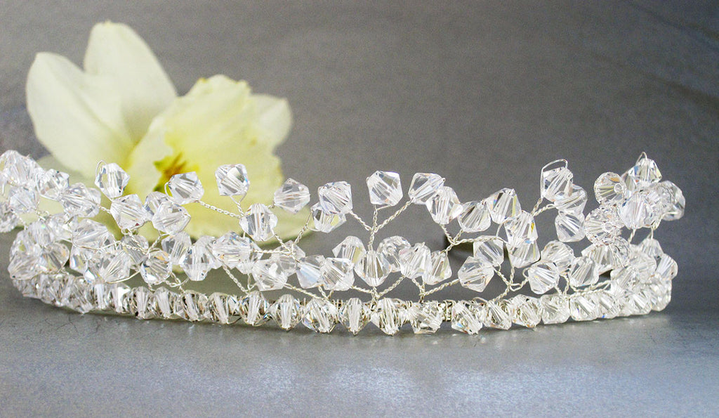 Crystal Bead Handmade Wedding Tiara 1