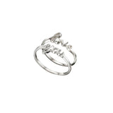 Love You Sterling Silver Ring Set