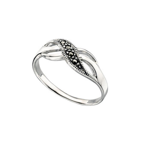 Infinity Marcasite Ring in Sterling Silver