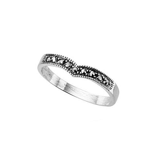 Wishbone Marcasite Ring
