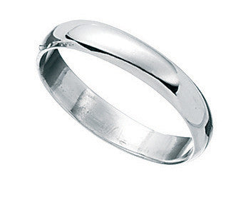 6mm D Band Silver Mens Ring