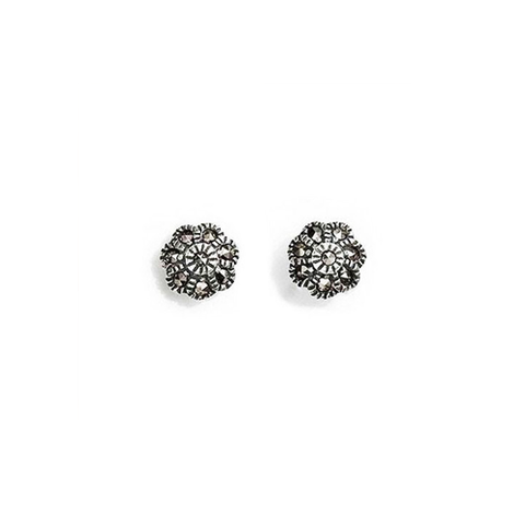 Mini Flower Marcasite Earrings