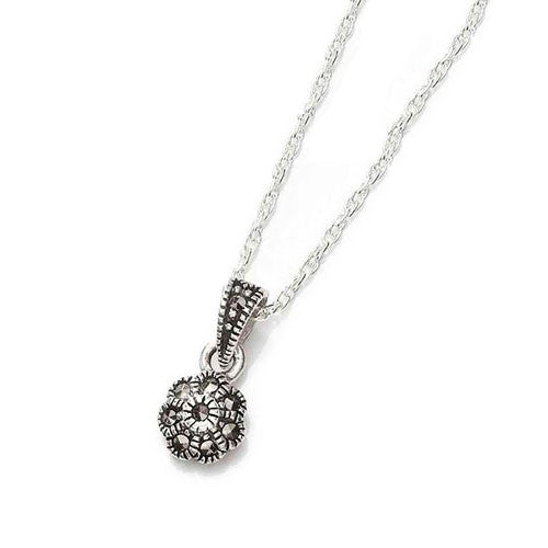 Mini Flower Marcasite Pendant