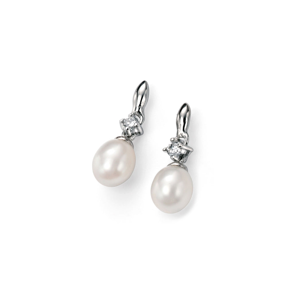 Tiny Teardrop White Pearl Earrings