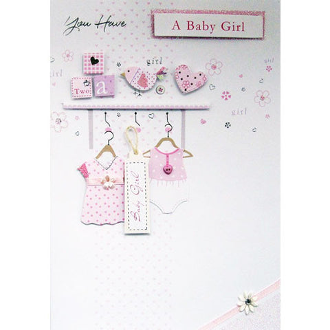 Handmade New Baby Girl Card