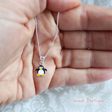 Sterling Silver North Pole Christmas Penguin Pendant