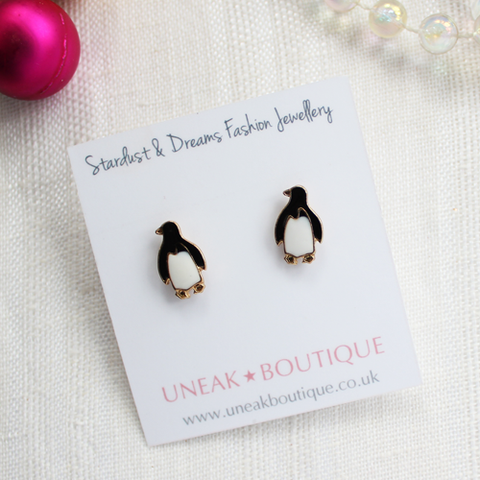North Pole Penguin Stud Earrings