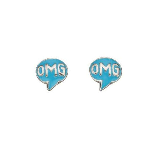 OMG Sterling Silver Stud Earrings