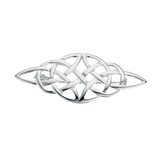 Sterling Silver Diamond Shaped Celtic Brooch