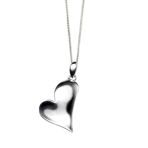 Polished Silver Heart Pendant