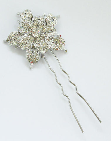 Star Flower Crystal Wedding Hair Pin