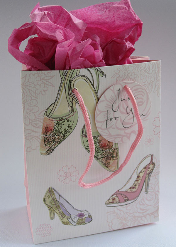 Pink Shoes Gift Bag