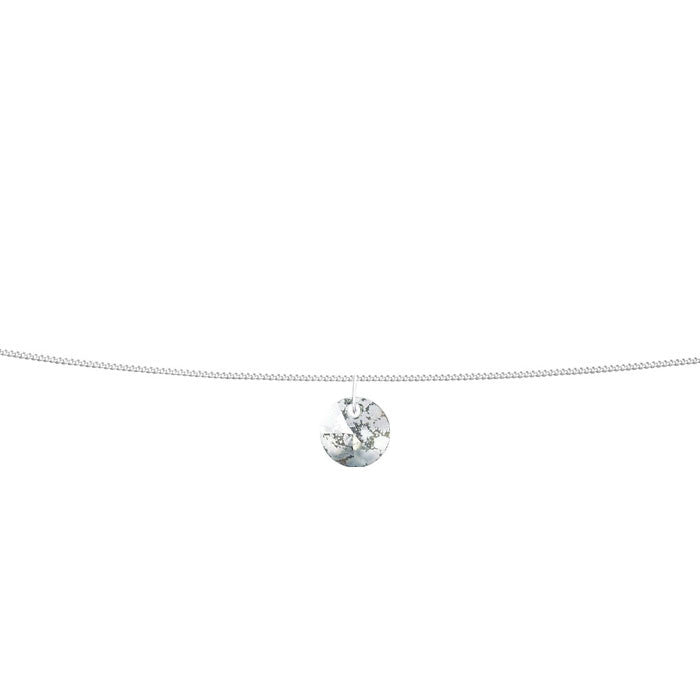 Silver Patina Crystal Xilion Silver Anklet