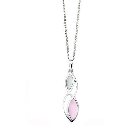 Pink and White Mother Of Pearl Pendant