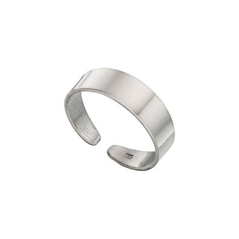 Plain Rounded Design Silver Toe Ring