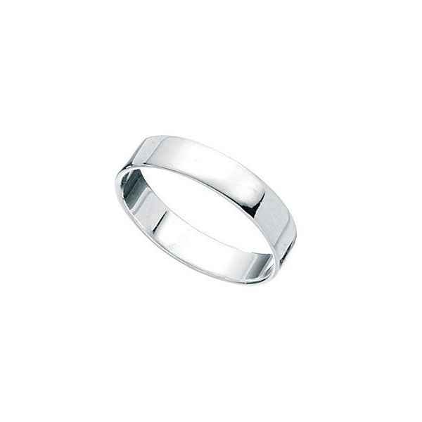 4mm Square Cut Boys Silver Ring