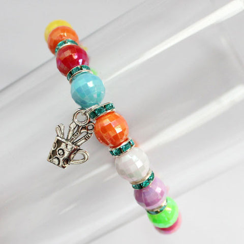 Rainbow Bright Beaded Handmade Bracelet