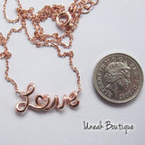 Eternal Love Rose Gold Necklace