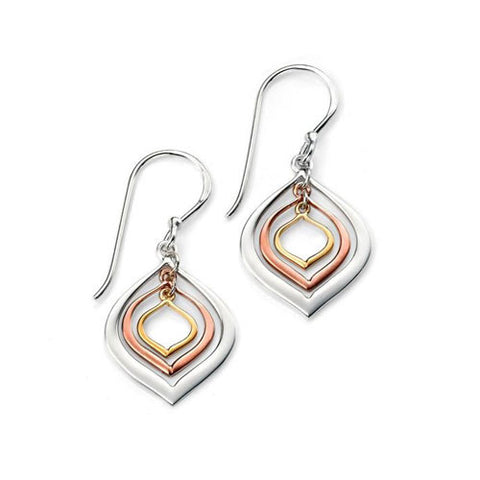 Sands of Time Gold and Silver Drop Earrings