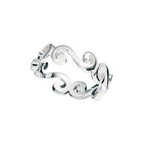 Ladies Scroll Design Sterling Silver Ring