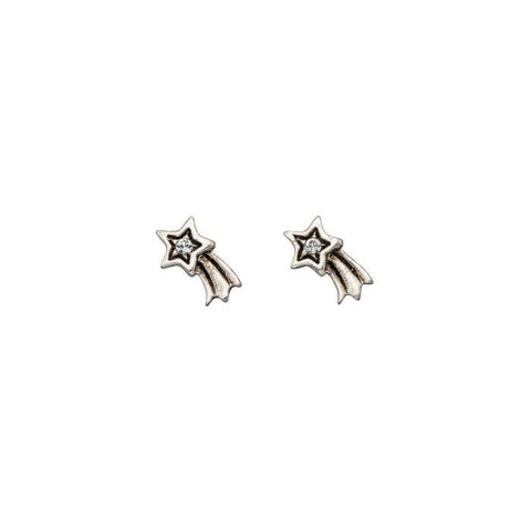Shooting Star Sterling Silver Stud Earrings
