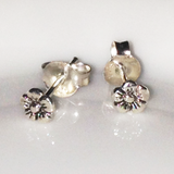 Mini Silver Flower Stud Earrings