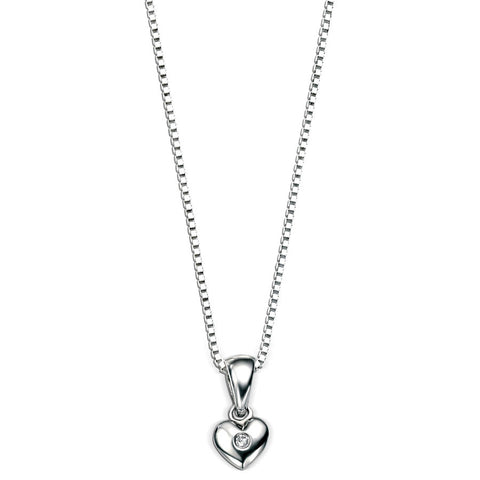 Silver Heart D for Diamond Pendant