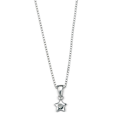 Silver Star D for Diamond Pendant
