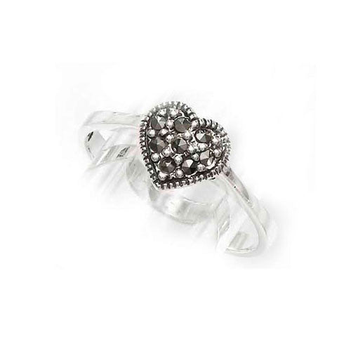 One Heart Marcasite Ring