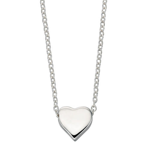 Single Heart Silver Necklace