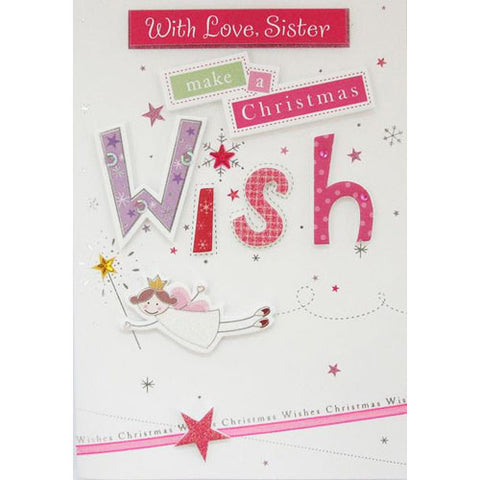 Make a Wish Sister Christmas Card