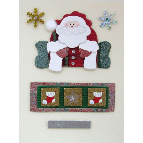 Sitting Santa Handmade Christmas Card