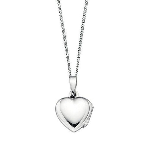 Small Silver Childrens Heart Locket